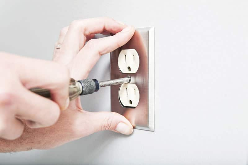 Installing an electric outlet