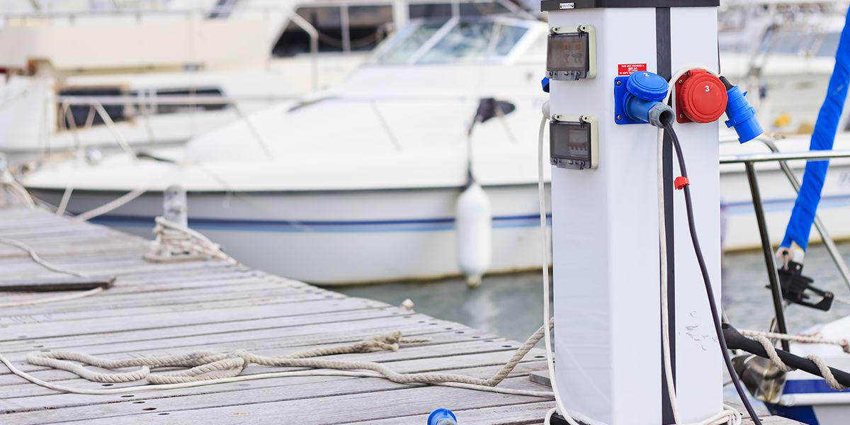 Marine Electrical Service - Home piers and marina electrical service